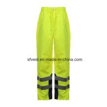 Pantalon réversible imperméable à haute visibilité PU haute sécurité