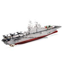2.4GHz escala 1/350 plástico anfibio asalto fragata juguete RC Boat