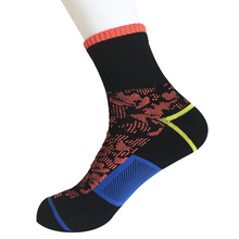 Medio cojín poli moda camuflaje trimestre calcetines (jmpq04)