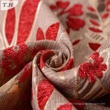 Flower Design Chenille Jacquard Fabric 330GSM
