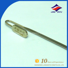 Wholesaler metal design stainless steel fancy bookmark