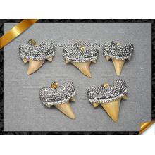 Подлинная Акула Зубы Подвеска, Druzy Gemstone Подвеска, Ожерелье Подвески для мужчин и женщин Ювелирные изделия (EF096)