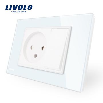 Livolo US / AU Standard Israel Prise de courant avec un commutateur à bouton-poussoir Gang VL-C9C1IL1K-11/12