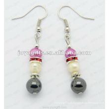 Moda Hematite Pérola Beads Brinco