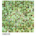 Azulejo de mosaico de vidrio de ámbar