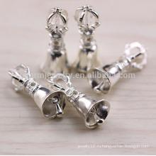 Sef065 DIY серебряные ювелирные изделия выводы, тенденции 925 стерлингов щепка шарм Рождественский колокол и корону и гантели для браслетов подвески
