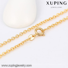 42969 Xuping Wholesale 18k collar de cadena de oro largo