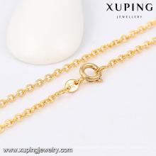 42969 Xuping оптом, золото 18к длинной цепи ожерелье