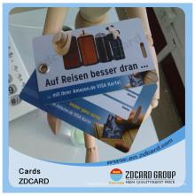 Tarjeta de regalo de PVC plástico de impresión a todo color de negocios