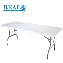 Perna de metal de mesa dobrável de plástico HDPE 183 cm a mais recente mesa ao ar livre projetos