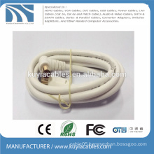 Right Angle to Straight TV Audio Video antena Cable CATV Cable TV