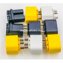 insert IEC 60320 C14 yellow white black