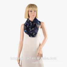 Новейшие женская модная полиэфира маркизет напечатано шарф петля круг шарф