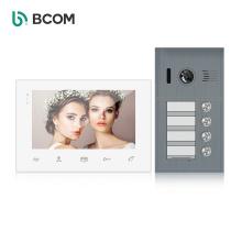 New design china 2 wire 4 apartments home intercom video phone , 2 wires audio door intercom system for building apartament