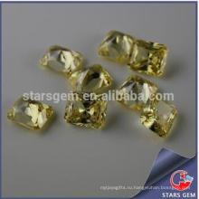 Прямоугольник Форма Светло-желтый Принцесса Cut Высокое качество кубического циркония