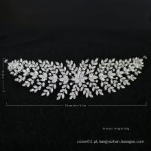 2020 Novo Design Material de Zircão Acessórios para Cabelo de Casamento Capacete para Noivas