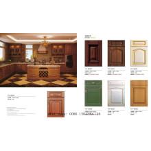 Gabinete europeo de la cocina del armario del MDF de la membrana del PVC del estilo (nuevo modelo)