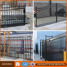 Cercas e portões de jardim tubulares em aço de segurança