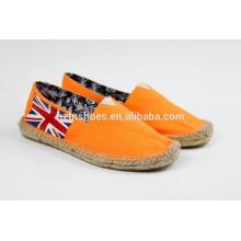 Homens baratos Sapatos de lona, sapatos casuais, sapatos Espadrille com sola de juta