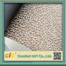 Gold Embossed Design PVC Leather Vinyl