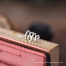 Pendientes de clip de serpiente de plata hechos a mano de la plata esterlina de la joyería de la manera