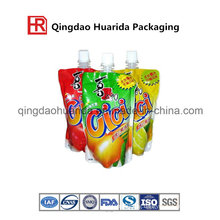 Juice Liquid Stand up Packaging Printed Bag with Cap