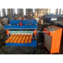 Máquina formadora de rollos de acero esmaltado coloreado