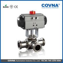 Fabricante Válvula neumática de bola de manera WCB / CF8 / CF8M / CF3 / CF3M
