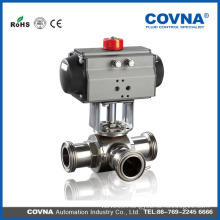 manufacturer WCB/CF8/CF8M/CF3/CF3M way ball pneumatic valve