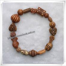 a Variety of Beads to Elastic by Random Beads Bracelets (IO-aj052)