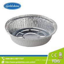 Poêles jetables en aluminium ronds d'emballage alimentaire