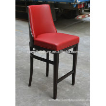 Popular red wooden bar stool XYN317