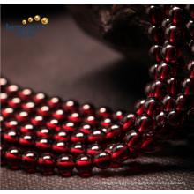 Prix d'usine Broches en vrac Petite taille Red 5mm Natural Garnet Beads