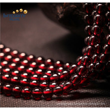 Factory Price Loose Strands Small Size Red 5mm Natural Garnet Beads