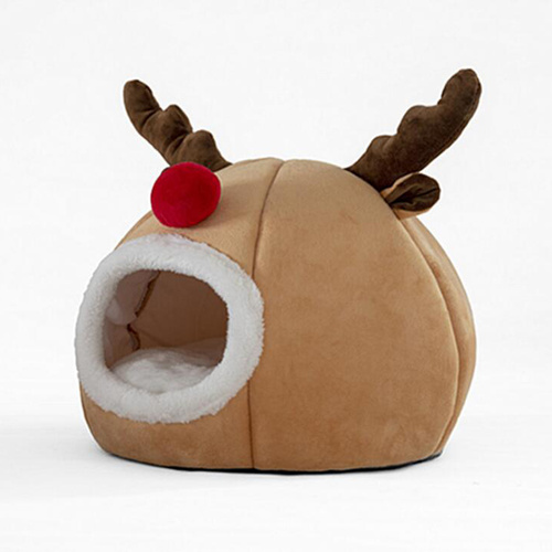 Creative Pet Nest Tent Christmas Reindeer Dog