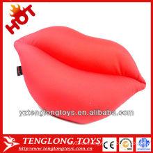 2014 nuevo material relleno lycra almohadones en forma de labios