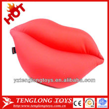 2014 new material stuffed lycra lips shaped pillows