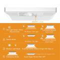 Lumières solaires à l'extérieur, lumière de capteur de mouvement 760 Lumen 48 LED, cadre en alliage d'aluminium imperméable à l'eau Sécurité extérieure sans fil Lumière solaire Garden Garden Patio Wall Light