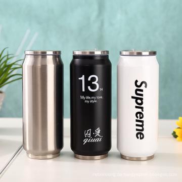 Outdoor kann Trinkflasche mit Strohhalm gestalten