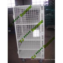 Recipiente dobrável do rolo da malha de arame do armazenamento do armazém