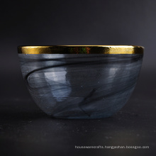 Handmade Glass Bowl with Cloud Decoration