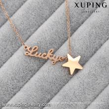 Collier-00048-Xuping personnalisé collier de plaque d'or collier en acier inoxydable