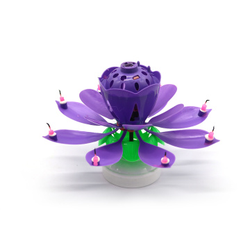 Ventes chaudes Lotus Music Birthday Candle