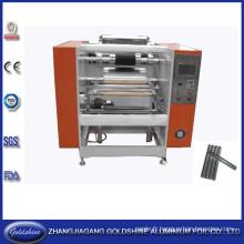 Papier d'aluminium semi-automatique Roll rebobinage Machine (GS-AF-100)