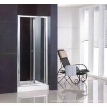 Porte de douche bifold semi-sans cadre Ws-B090