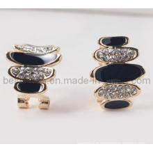 Boucles d'oreille spéciales en pierre ovale
