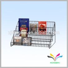 Супермаркет поставку металлической проволоки дисплей книга стойки