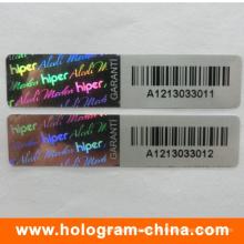 3D Laser Sicherheit Barcode Hologramm Aufkleber