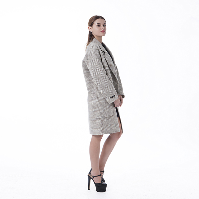 Cashmere overcoat double-breasted Beige