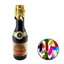 Geburtstag Konfetti Champagner Flasche Party Popper CE mit bunten Folie Rechteck Formen